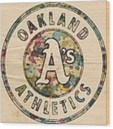 Oakland Athletics Poster Vintage Wood Print