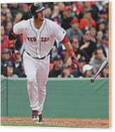 Oakland Athletics V Boston Red Sox Wood Print