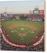 Oakland Athletics V Los Angeles Angels Wood Print