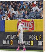 Oakland Athletics v. New York Yankees Wood Print