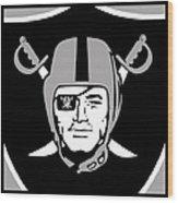 Oakland Raiders Wood Print by Tony Rubino