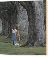 Oaks Of Audubon Park Wood Print