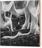 Oakwood Flames Wood Print