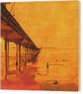 Ob Sunset Wood Print