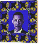Obama Abstract Window 20130202m118 Wood Print