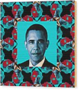 Obama Abstract Window 20130202m180 Wood Print