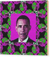 Obama Abstract Window 20130202m60 Wood Print