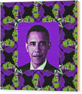 Obama Abstract Window 20130202m88 Wood Print by Wingsdomain Art and Photography