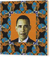 Obama Abstract Window 20130202p28 Wood Print by Wingsdomain Art and Photography
