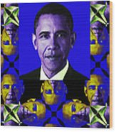 Obama Abstract Window 20130202verticalm118 Wood Print by Wingsdomain Art and Photography