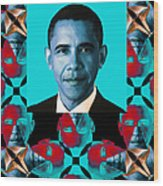 Obama Abstract Window 20130202verticalm180 Wood Print
