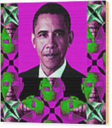 Obama Abstract Window 20130202verticalm60 Wood Print