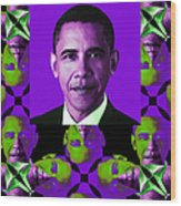 Obama Abstract Window 20130202verticalm88 Wood Print