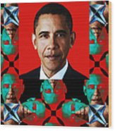 Obama Abstract Window 20130202verticalp0 Wood Print