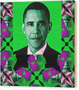 Obama Abstract Window 20130202verticalp128 Wood Print