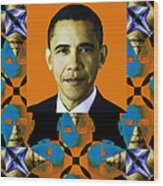 Obama Abstract Window 20130202verticalp28 Wood Print by Wingsdomain Art and Photography