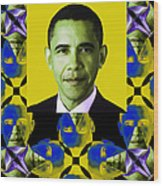 Obama Abstract Window 20130202verticalp55 Wood Print