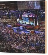 Obama And Biden At 2008 Convention Wood Print