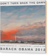 Obama Campaign Poster 2012 Wood Print by William Van Doren