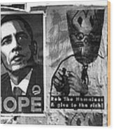 Obama Election Poster Wood Print