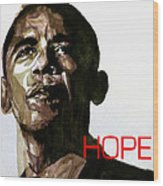 Obama Hope Wood Print by Paul Lovering