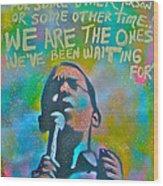 Obama In Living Color Wood Print