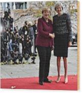 Obama Meets With European Leaders In Berlin Wood Print