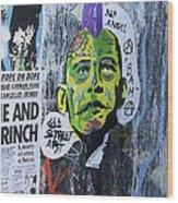 Obama The Grinch Wood Print