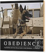 Obedience Inspirational Quote Wood Print
