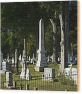 Obelisk And Headstones Wood Print