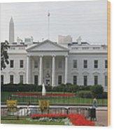 Obelisk And White House Wood Print