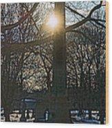 Obelisk Of Fire Wood Print