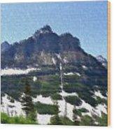 Oberlin Mountain Wood Print