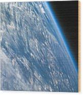 Oblique Shot Of Earth Wood Print by Adam Romanowicz