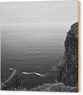 O'briens Tower On The Cliffs Of Moher County Clare Ireland Wood Print
