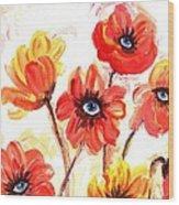 Observant Flowers 101 Wood Print