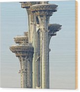 Observation Tower At Olympic Park - Beijing China Wood Print