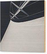 Obsession Sails 4 Black And White Wood Print