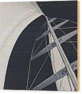 Obsession Sails 5 Black And White Wood Print