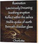 Obsidian Glass Wood Print