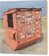 Obx Beach Dumpster Wood Print