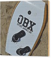 Obx Outer Banks Surf Board Wood Print