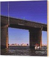 O.c. Bridge N Skyline Wood Print