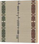 O'carroll Written In Ogham Wood Print