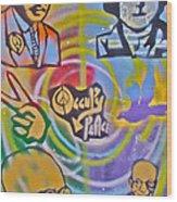 Occupy 4 Peace Wood Print