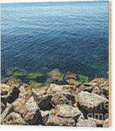 Ocean And Rocks Wood Print