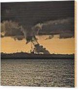 Ocean At Sunset Wood Print