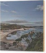Ocean Beach At Sunrise Wood Print