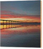 Ocean Beach California Pier 3 Wood Print