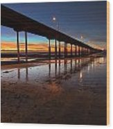 Ocean Beach California Pier 4 Wood Print by Larry Marshall